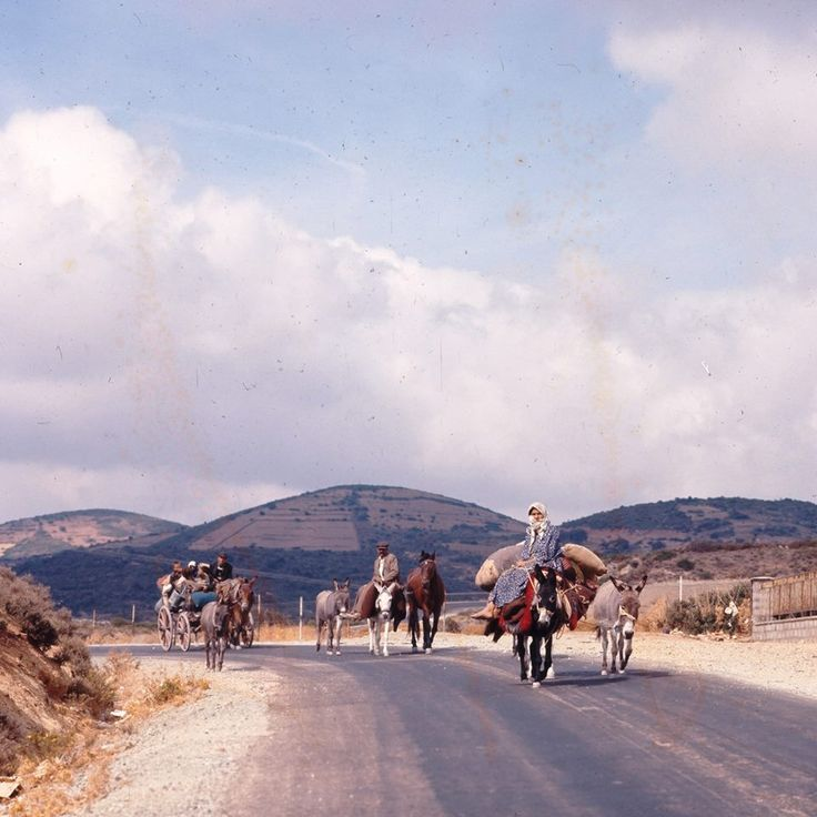 Στο δρόμο προς Στυρα Ευβοιας το 1970