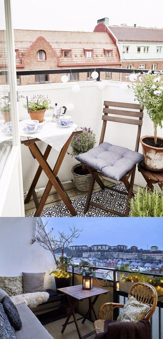 9 ideas para balcones pequeños / http://www.dailydreamdecor.com