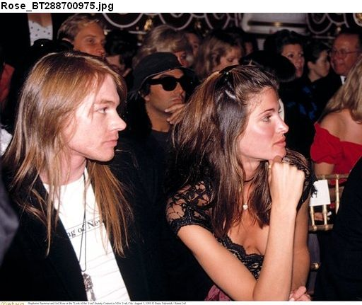 Axl Rose of Guns n' Roses with then girlfriend, gorgeous supermodel Stephanie Seymour, NYC, 1991 #axlrose #waxlrose #gunsnroses #gnr #rockicon #rockstar #rockgod #rocknroll #hottestmanalive #bestsinger #livinglegend #sweetchildomine