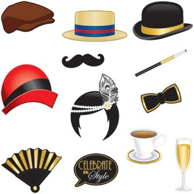 Roaring 20s Photo Booth Props 12ct | Party City