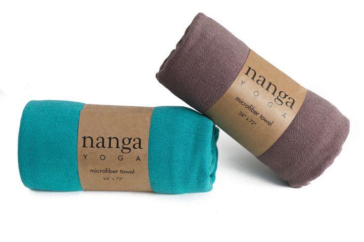 Nanga Yoga Towel in Teal and Coffee