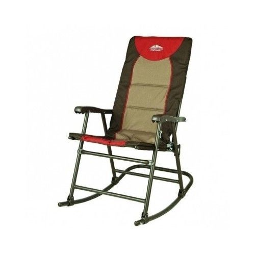 Patio Rocking Chair Portable Folding Camping Beach Seat Hiking Back Yard  Outdoor