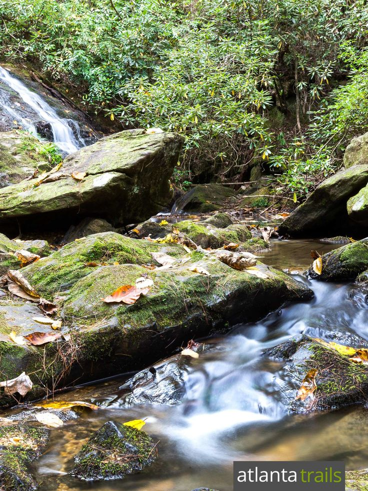 Hike the Cathy Ellis Trail to Chunanee Falls, a tumlbing waterfall at Georgia's Smithgall Woods State Park