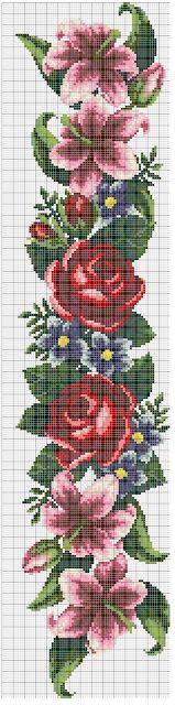 Free Download Embroideries - Δωρεάν κεντήματα: Ιβίσκος και τριαντάφυλλα σταυροβελονιά