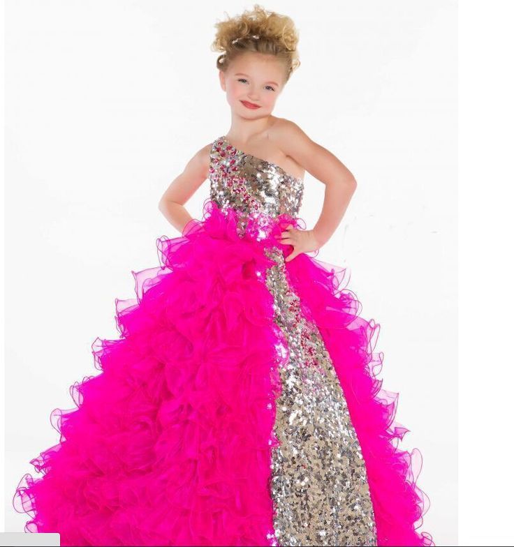 Find More Flower Girl Dresses Information about Shining Puffy Pageant Dresses…