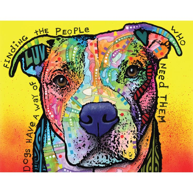 PIt Bull Splash Art Wall Decal - Dogs Have a Way by Dean Russo
