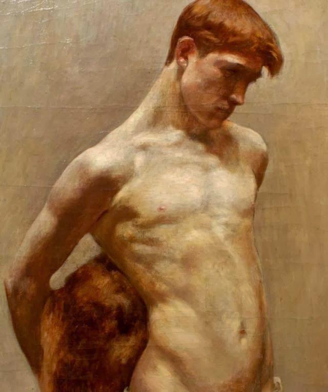 Marcel Sijben de Maroye (1878-1962), oil on canvas, nude boy.