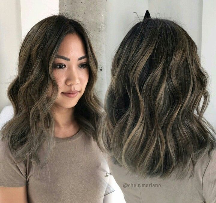 Ash Brown Bayalage Highlights Looking For Hair