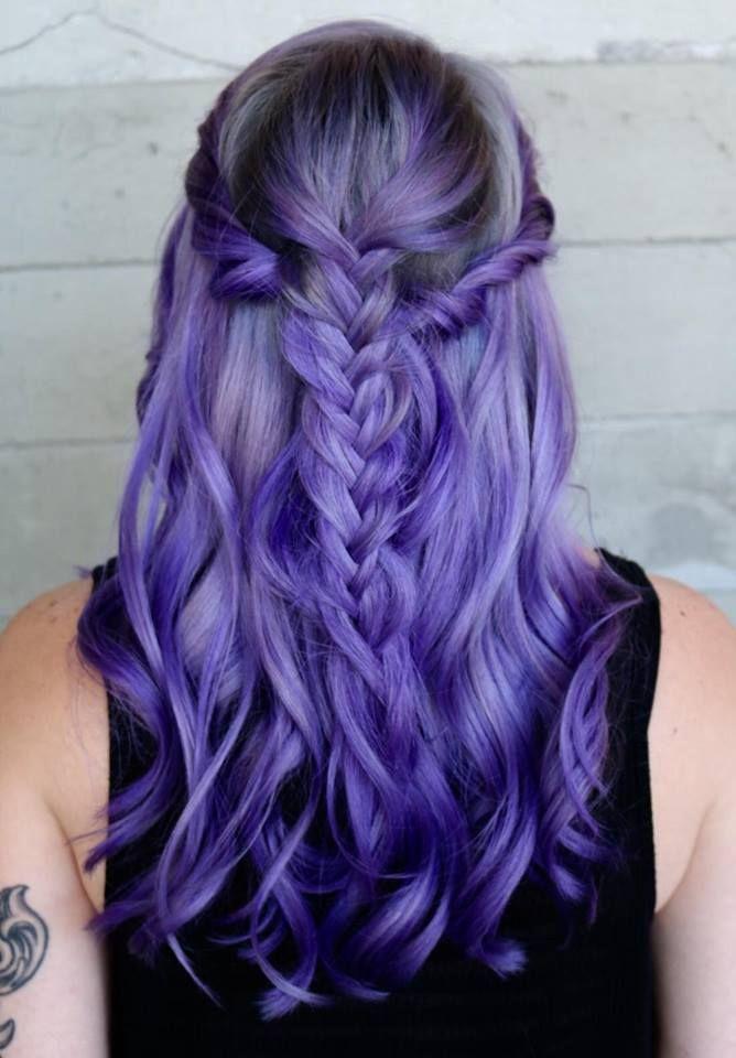 Excellent 1000 Ideas About Long Purple Hair On Pinterest Purple Hair Short Hairstyles Gunalazisus