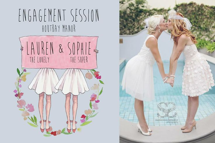 As pretty as a picture! Lauren & Sophie's engagement at Hout Bay Manor ~ image by @Samantha Hanlon