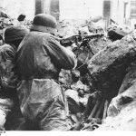 Tedesco MG42 mitragliatrice Monte Cassino Italia Apr 1944