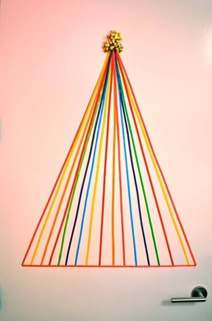 alternative Christmas tree idea from radical possibility