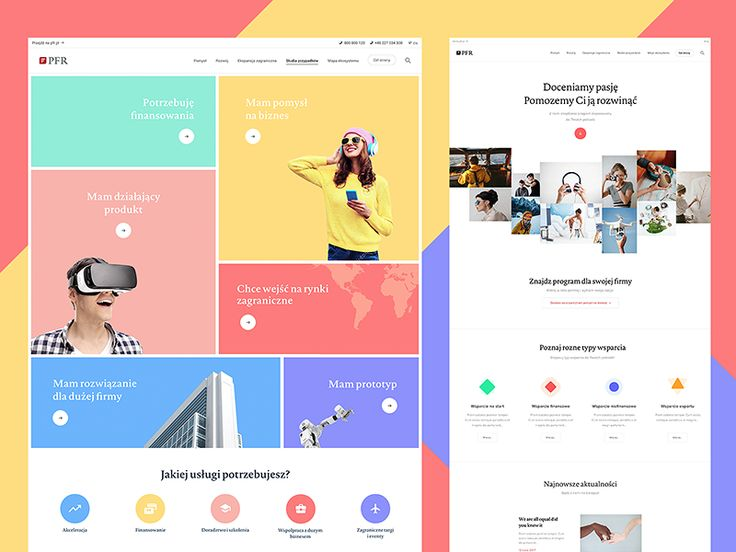 Hello Dribbble world! ✌ It's nice to upload something again! Today I present you few pages of my fresh clients project. This is a website for a Polish government, the site that helps you when you ...