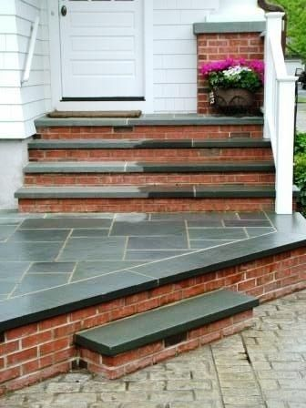 1000 images about outdoor stairs and stone on pinterest for Bluestone front porch