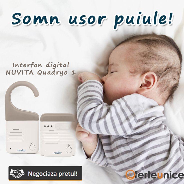 Pentur linistea parintilor.  Interfon digital Nuvita Quadryo 1.  Monitoarizarea somnului. Monitorizarea bebelusului.   #Romania #bebelusi #monitorizare #interfon