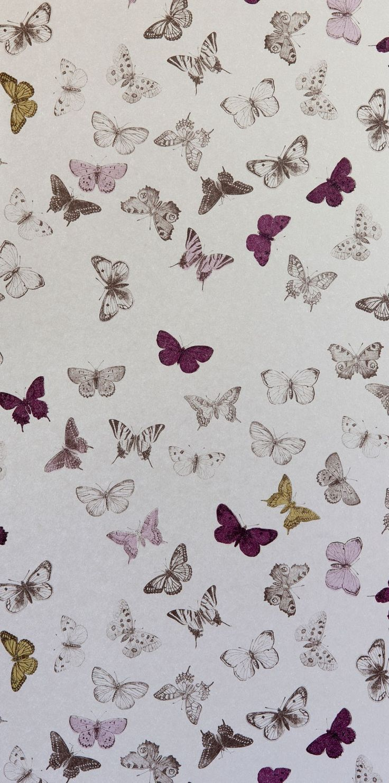 wallpaper butterfly bronze/mul