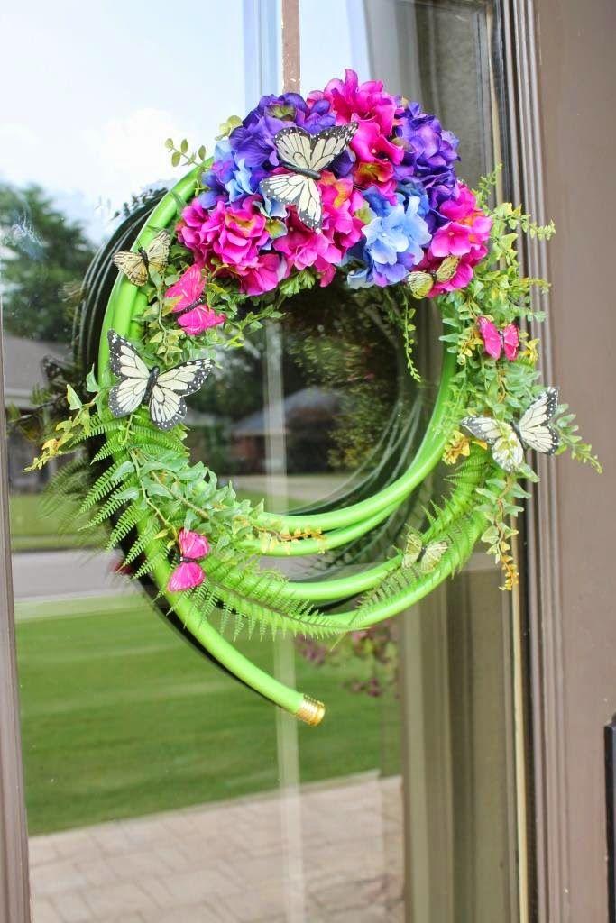 Tips For Making A Garden Hose Wreath