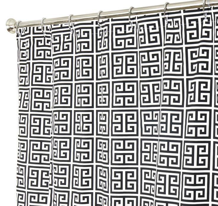 Extra Long Shower Curtain Fabric Shower Curtains Bathroom Curtains Black and White Greek Key 84' -- Check out this great image  (This is an amazon affiliate link. I may earn commission from it)