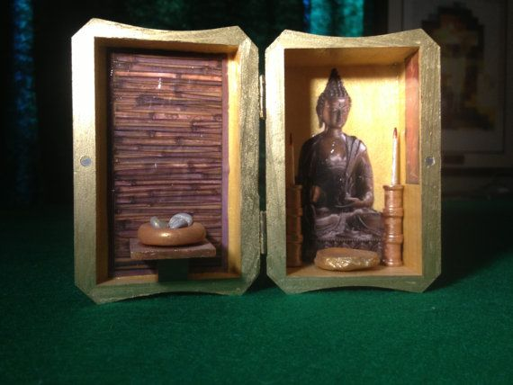 A Quiet Place, Buddha, zen, meditation, contemplation, nicho, shadow box, shadowbox, diorama, shrine