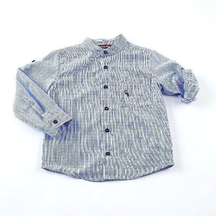 Camisa Mil Rayas Bidon, camisa niño, camisa popelin, camisa mao, - Productos destacados a precios especiales - Mundo Kiriko
