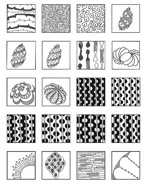 17 best images about zentangle patterns on pinterest for Basic doodle designs