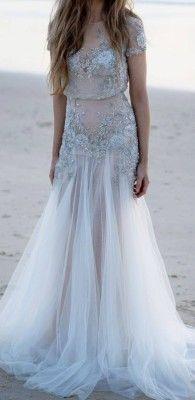 Платье невесты для свадьбы на пляже