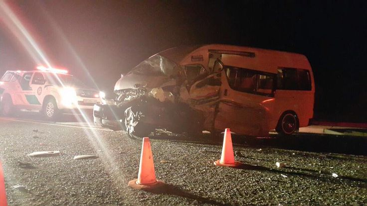 Taxi and Corolla collided outside Brandfort @hgroenewald1985
