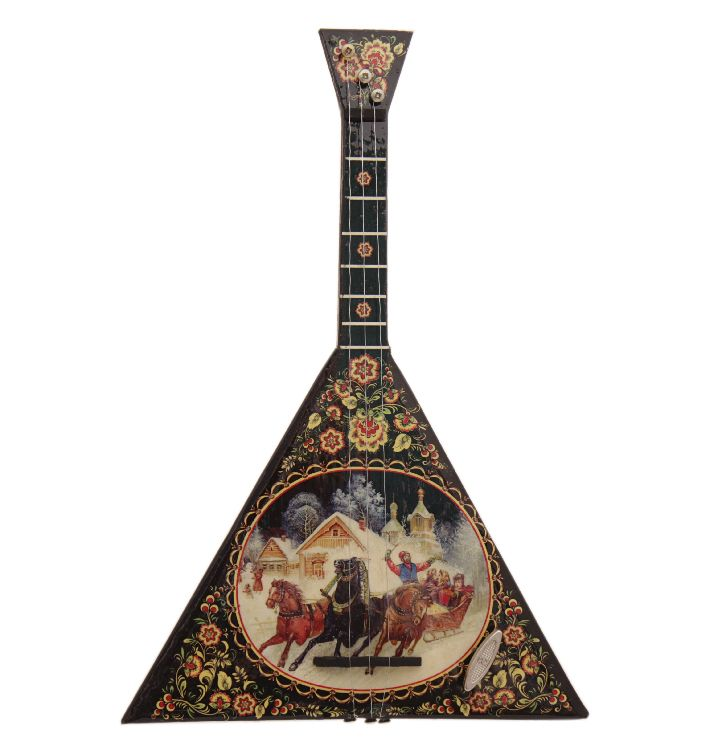 Russian balalaika musical souvenir with Troika