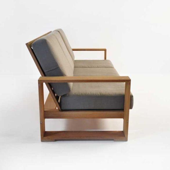 Havana Teak Outdoor Sofa Side View Plywoodfurniture Teakoutdoorfurnituregardens Patio Couch Teak Sofa Sofa Handmade