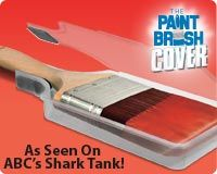 Paint Brush Cover - Shark Tank - Plastic Protector easily saves and stores your paint brushes