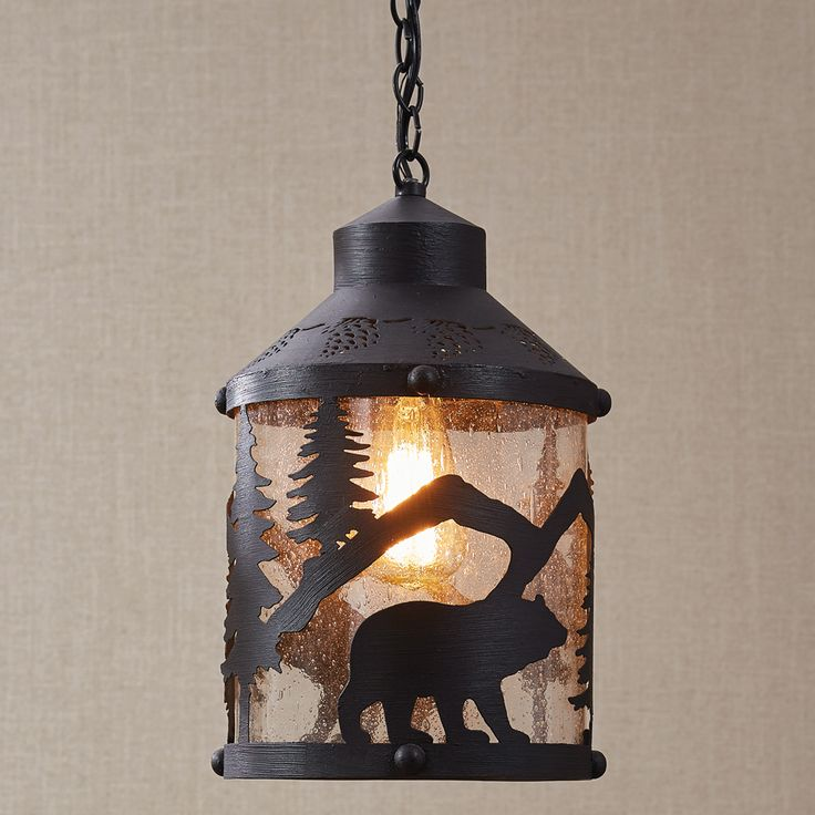 139.95 Black Bear Forest Pendant Light