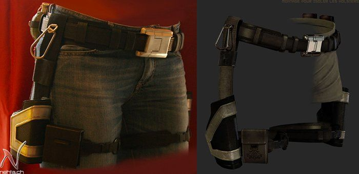 DIY lara croft belt/gun holster