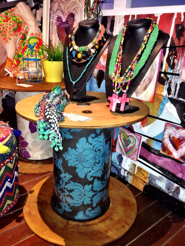 Cable reels, art and jewellery at totsiestravels@gmail.com