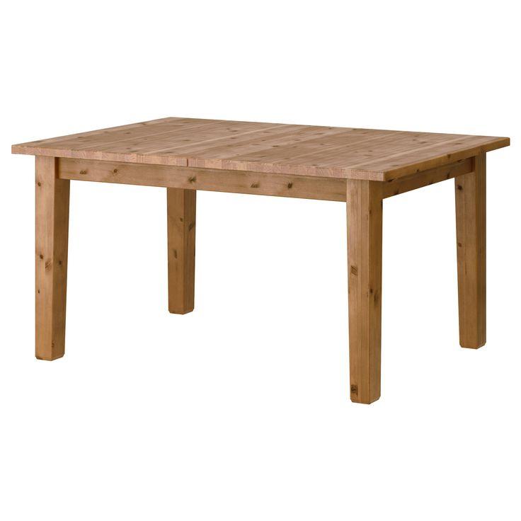 STORNAS açılabilen yemek masası antika vernik 147/204x95 cm | IKEA Yemek Odaları