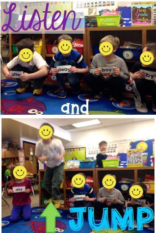 Students each have a sight word. When teacher calls out word that student has, that student jumps up