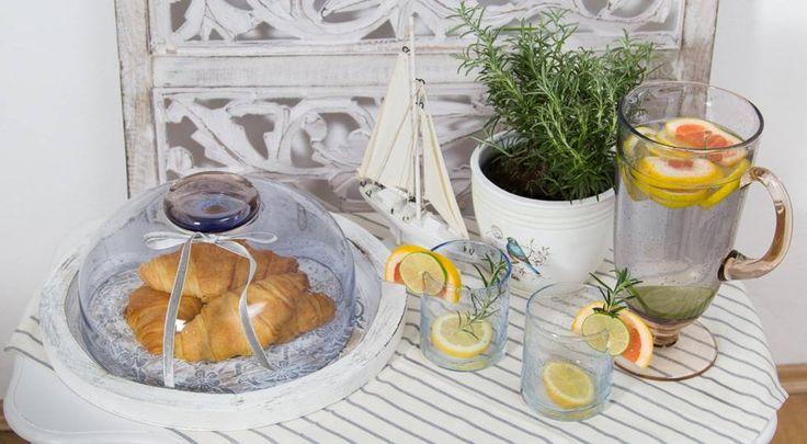 Classic Breakfast! Freshly made Lemonade, Coffee and Crunchy Croissants!