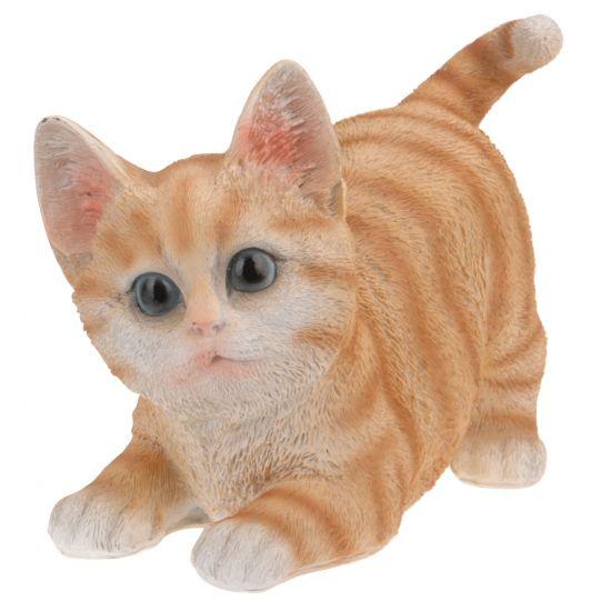 Kruipende katten beeldje oranje 18 cm  Kruipende katten beeldje oranje 18 cm. Dit katten beeldje is gemaakt van polystone. Enkel geschikt voor binnen gebruik.  EUR 5.99  Meer informatie