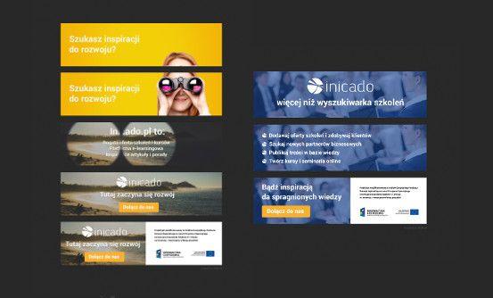 inicado.pl - projekty banerów dynamicznych dla portalu inicado.pl // web banners for inicado.pl