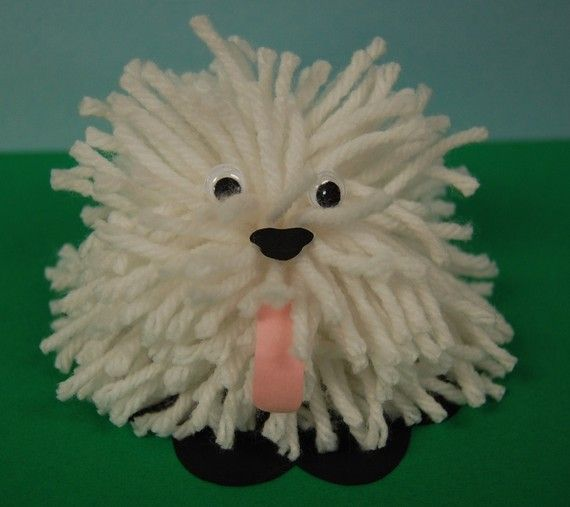 Shaggy Dog Pom Pom Craft