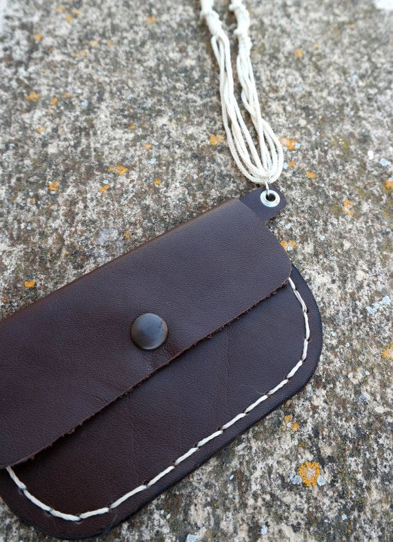 Take your money and keys with you everywhere with style with this mini wallet necklace and keep your hands free! The wallet is handmade from