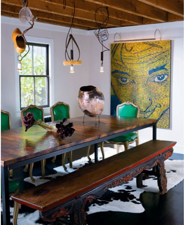 Eclectic Style Combines Various Styles Time Periods Colors Textures And Patterns Farmhouse Dining RoomsEclectic