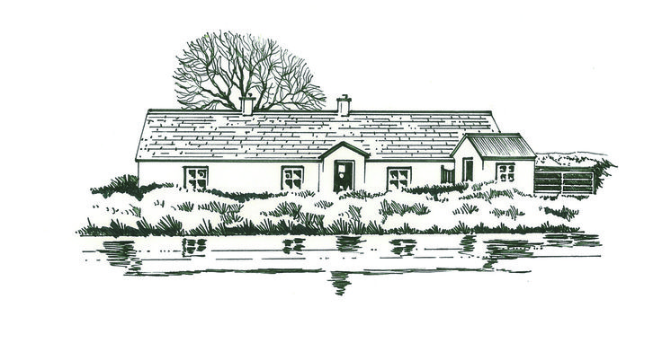 Pen & Ink illustration from Kildare Tow Path Trails Leaflet series.