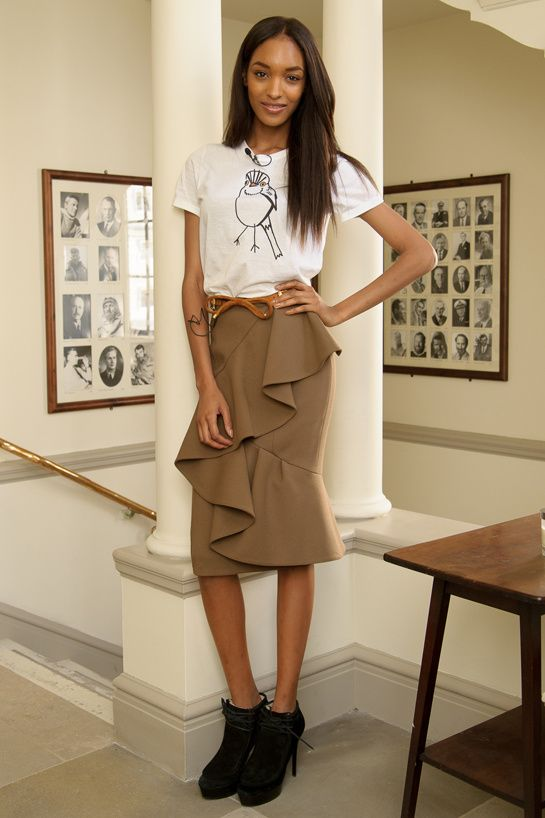 Jourdan Dunn in Burberry Prorsum