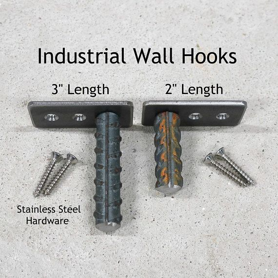 Wall Hooks - Coat Hooks - Rustic Coat Hooks - Industrial Wall Hooks - Metal Coat Hooks - Bag Hook - Towel Hook - Metal Hook -MADE IN AMERICA- Priced as: - Single (1) Wall Hook - Set of (5) Wall Hooks - Set of (10) Wall Hooks Wholesale pricing available for larger