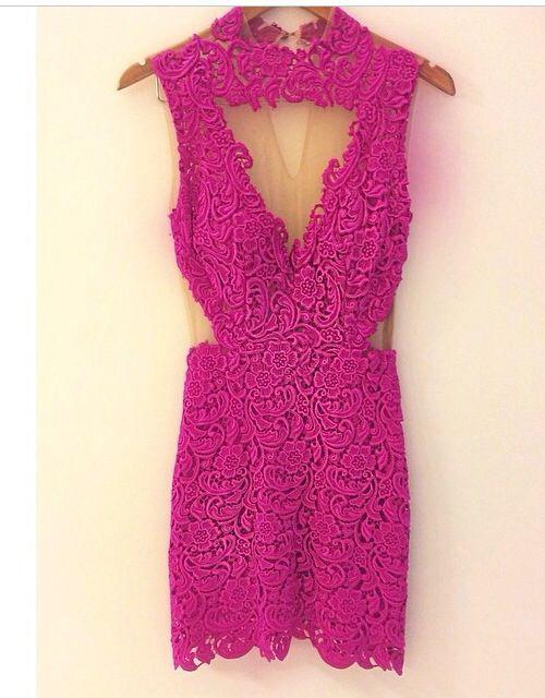 Vestido de festa curto pink Patricia Bonaldi