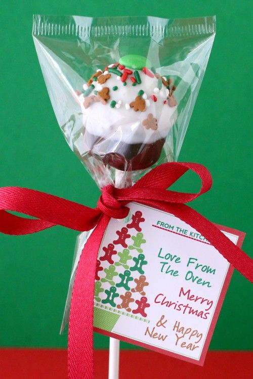 Holiday cupcake pop. Deliciously thoughtful. #holiday #gifts