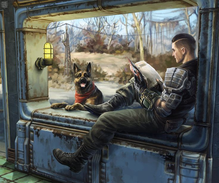 Sole survivor fallout fan art dogmeat