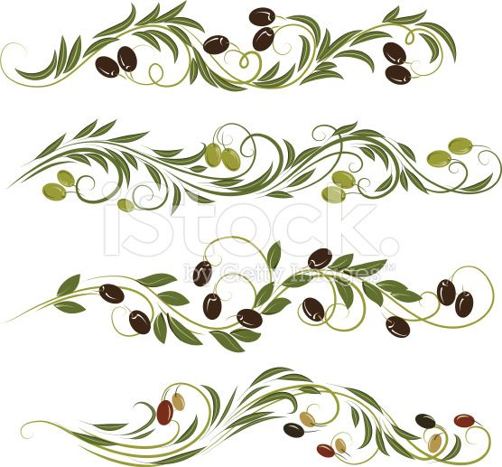 olive ornament royalty-free stock vector art
