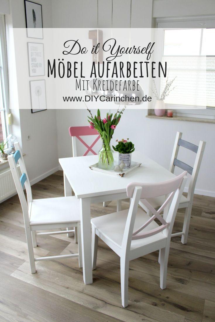 DIY: Alte Möbel aufarbeiten / upcyclen und neu streichen mit Kreidefarbe – DIYCarinchen – DIY Ideen: Basteln, Geschenke, Deko, und Wohnen