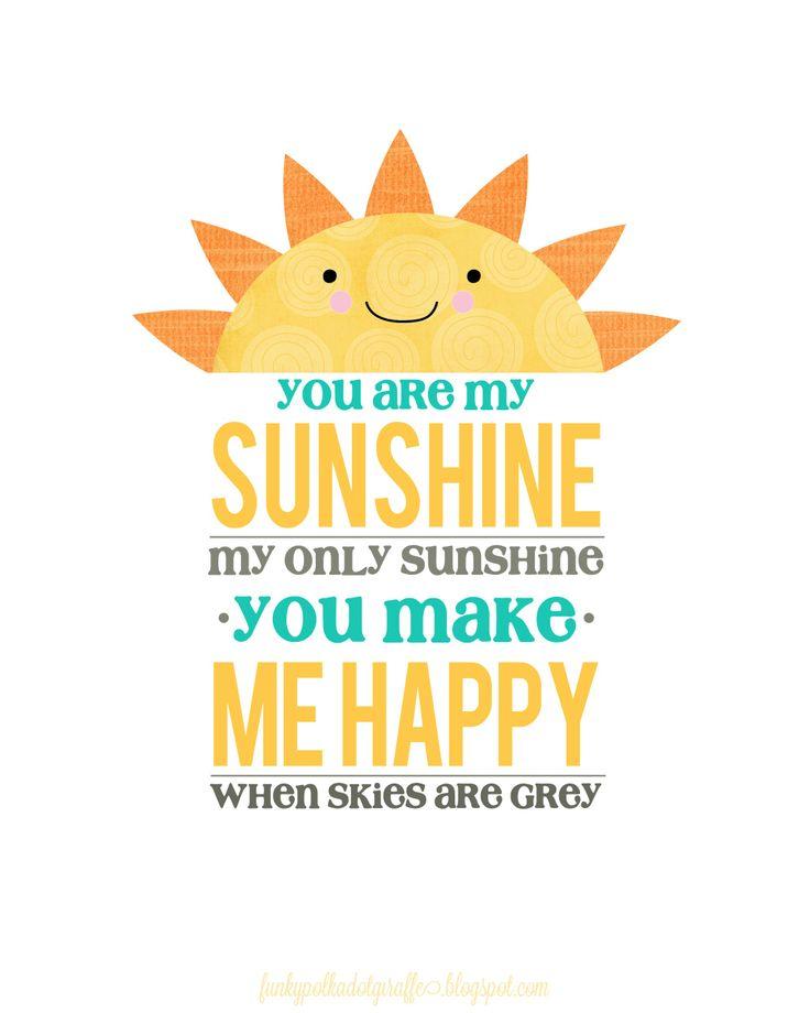Free You Are My Sunshine Printable
